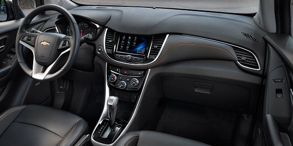 Interior of the Chevrolet Trax 2017