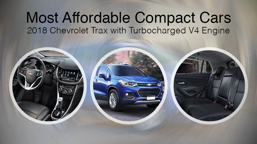 Most Affordable Compact Cars - 2018 Chevrolet Trax with Turbocharged V4 Engine